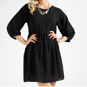 Black Chiffon Dress! NWT!  Sz Large.